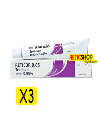 3Tubes Reticor 0.05 Tretinoin Cream