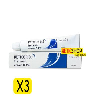 3Tubes Reticor 0.1 Tretinoin Cream