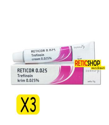 3Tubes Reticor 0.025 Tretinoin Cream
